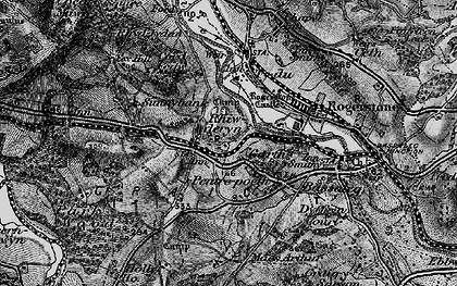 Old map of Garth in 1897