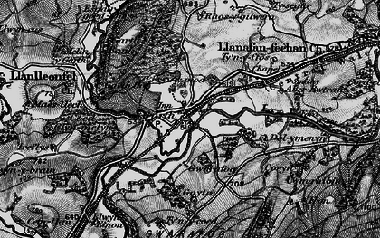 Old map of Banc y Cwm in 1898