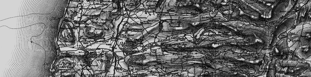 Old map of Afon Stewy in 1899