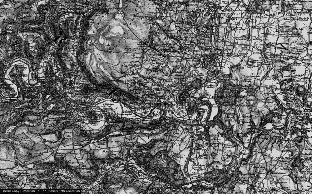 Old Map of Garth Trevor, 1897 in 1897