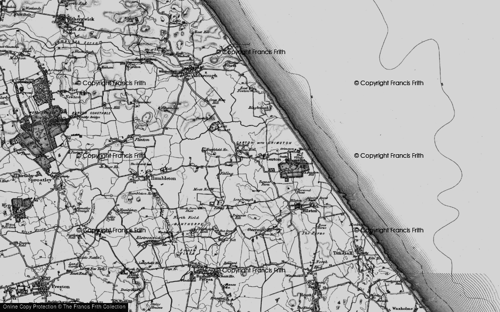 Old Map of Historic Map covering Bail Wood in 1897