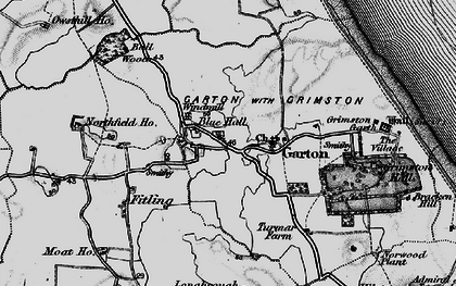 Old map of Bail Wood in 1897