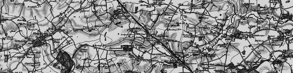 Old map of Garvestone in 1898