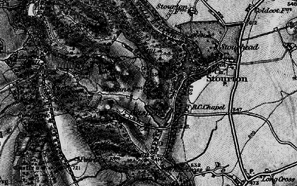 Old map of Aaron's Hill in 1898