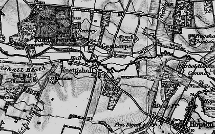 Old map of Angles Way in 1898