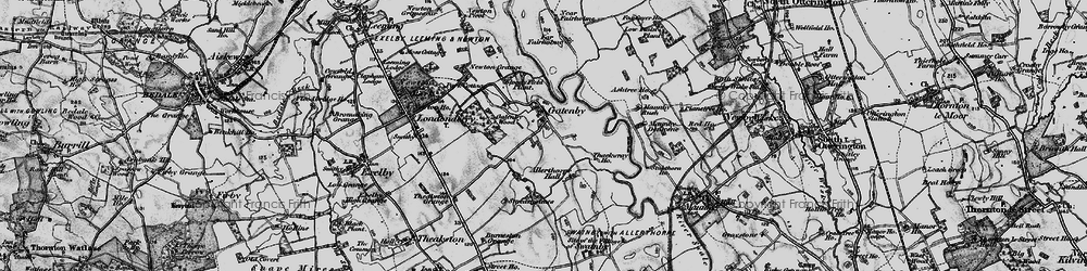Old map of Allerthorpe Hall in 1898