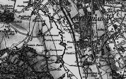 Old map of Gateshead in 1898