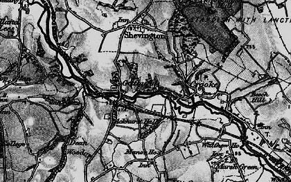 Old map of Ackhurst Hall in 1896