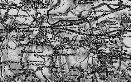 Old map of Gatley in 1896