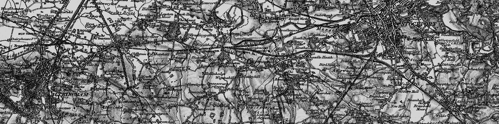 Old map of Bruntwood Hall in 1896