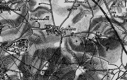 Old map of Gawcott in 1896