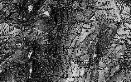 Old map of Whins Beck in 1897