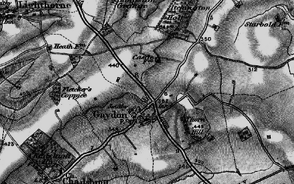 Old map of Gaydon in 1898