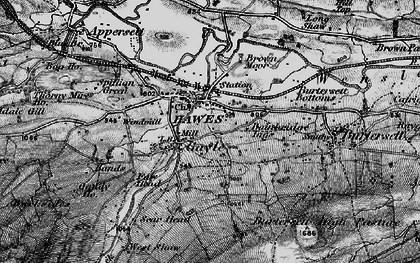 Old map of Wether Fell Side in 1897