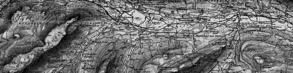 Old map of Wether Fell in 1897
