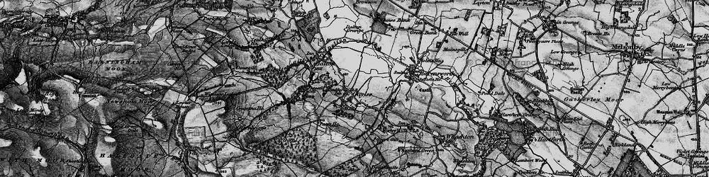 Old map of Gayles in 1897