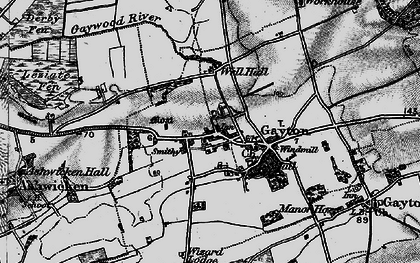 Old map of Lanky Hill in 1898
