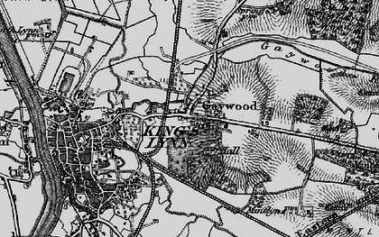 Old map of Gaywood in 1893