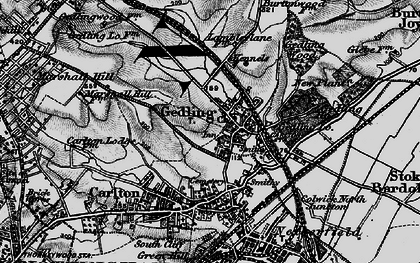 Old map of Gedling in 1899