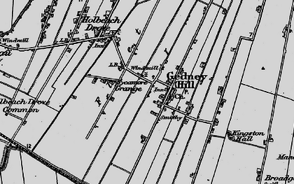 Old map of Gedney Hill in 1898