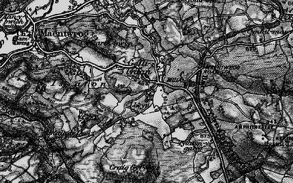 Old map of Gellilydan in 1899