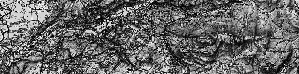 Old map of Gellilydan in 1899