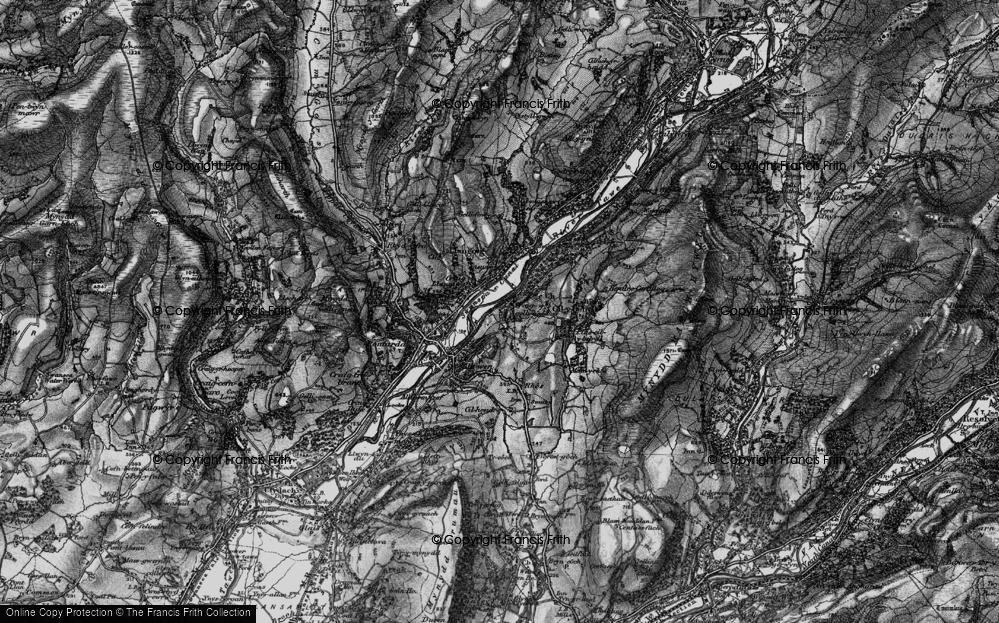 Old Map of Gellinudd, 1898 in 1898