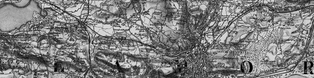 Old map of Gendros in 1897