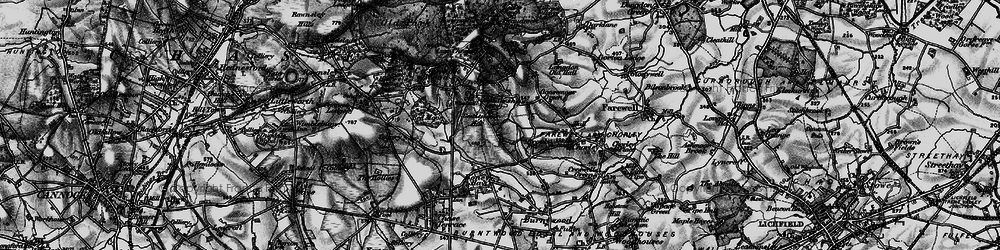Old map of Gentleshaw in 1898