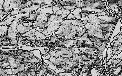 Old map of Yealmacott in 1898