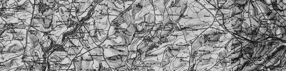 Old map of Witherdon Wood in 1895