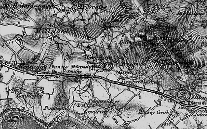 Old map of Germoe in 1895
