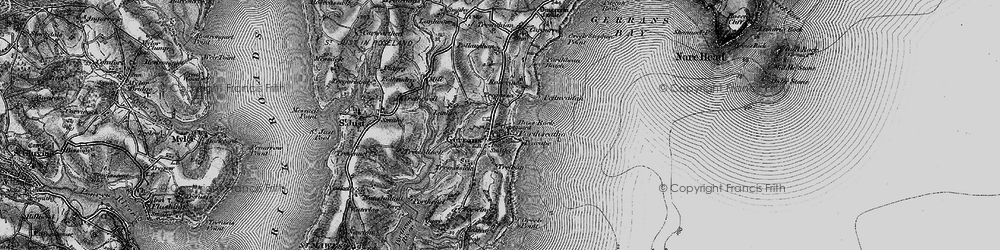 Old map of Gerrans in 1895