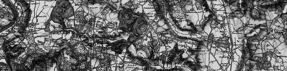 Old map of Gerrards Cross in 1896
