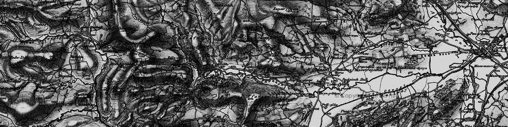 Old map of Afon Trannon in 1899