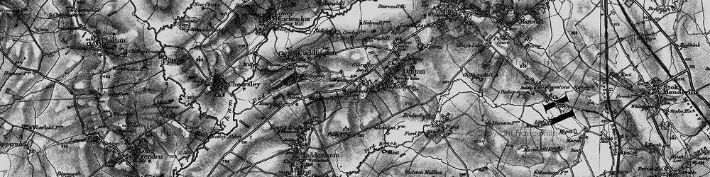 Old map of Westlington Ho in 1895