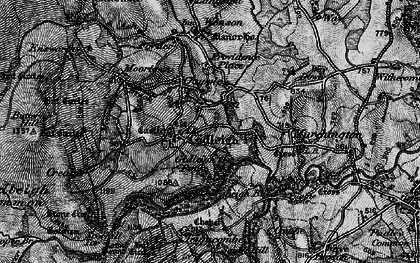 Old map of Gidleigh in 1898