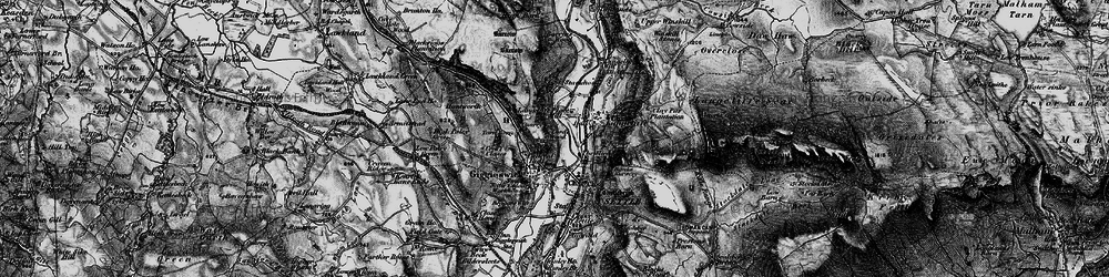 Old map of Giggleswick in 1898