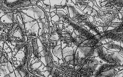 Old map of Gilbert's Coombe in 1895