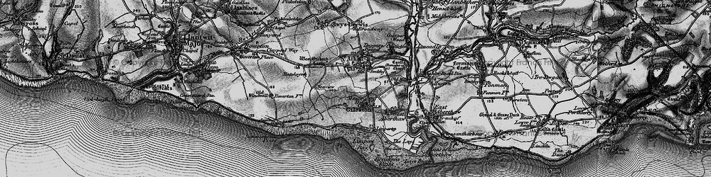 Old map of Gileston in 1897