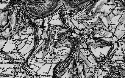 Old map of Gilfachreda in 1898
