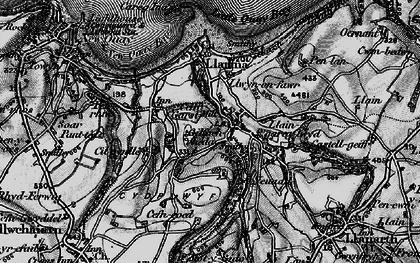Old map of Gilfachrheda in 1898
