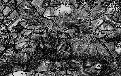 Old map of Wythemoor Ho in 1897