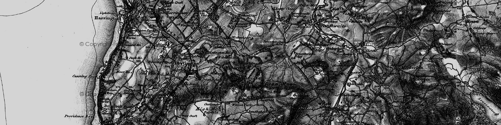 Old map of Wythemoor Head in 1897