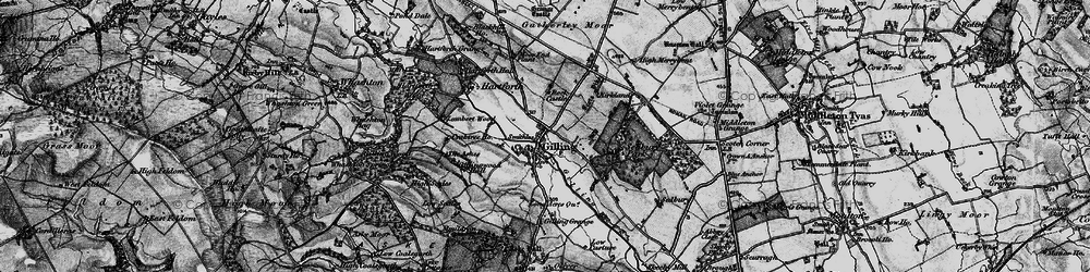 Old map of Gilling West in 1897
