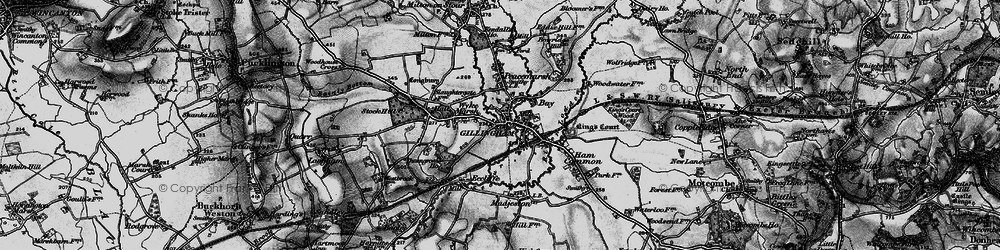 Old map of Gillingham in 1898