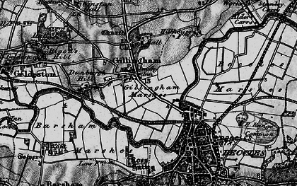 Old map of Barsham Marshes in 1898
