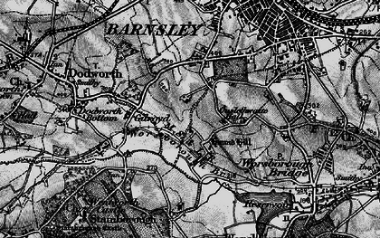 Old map of Gilroyd in 1896