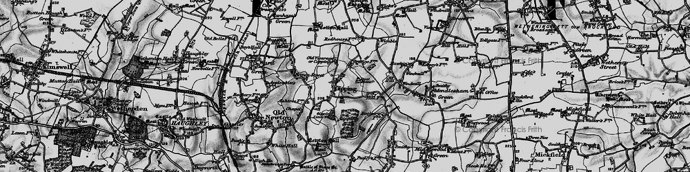 Old map of Wimble in 1898
