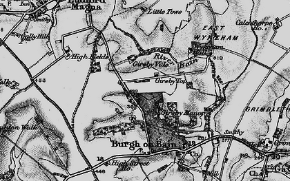 Old map of Girsby Top in 1899